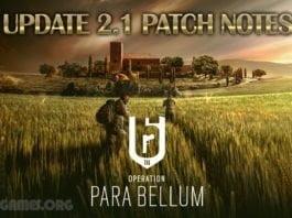 Rainbow 6 Siege Update 2.1 Patch Notes