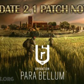 Rainbow 6 Siege Update 2.1