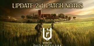 Rainbow 6 Siege Update 2.1 Patch Notes